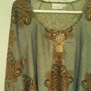 Blouse tunic pullover